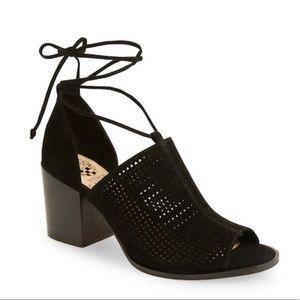 vince camuto lindel sandal ankle wrap heel suede